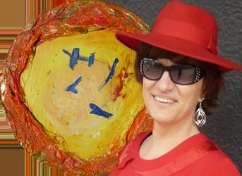 Silja Korn mit dem Bild Wunschbrunnen